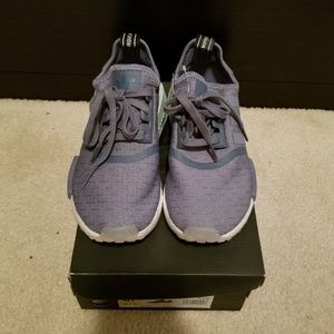 9dbbbda19c8ba adidas Shoes - Adidas NMD R1 Blue Raw Steel Cloud White